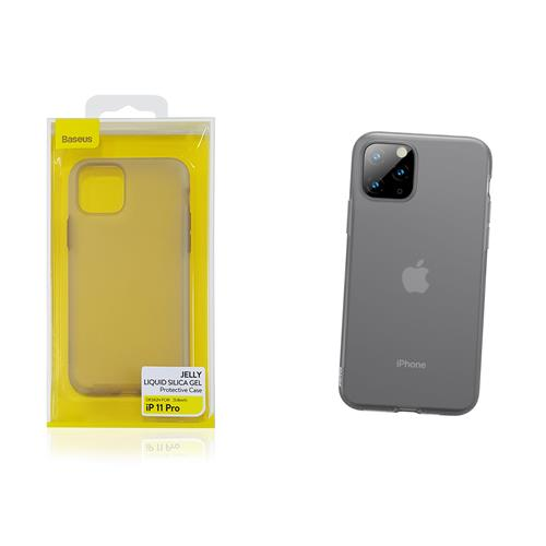 21975 Baseus Jelly Liquid Per Iphone 11 Pro Nero Trasparente Wiapiph58s Gd01 Baseus Wiapiph58s Gd01